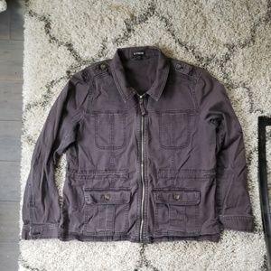 Express large gray utility jacket ECU!